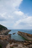 Wanli District, New Taipei City, Taiwan Yehliu Geopark Datun Mountains headland protruding sea Stock Photo