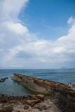 Wanli District, New Taipei City, Taiwan Yehliu Geopark Datun Mountains headland protruding sea Stock Image