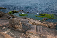 Wanli District, New Taipei City, Taiwan Yehliu Geopark and dissolution disk Stock Photography