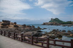Wanli District, New Taipei City, Taiwan Yehliu Geopark mushroom-shaped rock strange rocky landscape Stock Image