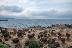Wanli District, New Taipei City, Taiwan Yehliu Geopark mushroom-shaped rock strange rocky landscape Royalty Free Stock Photo