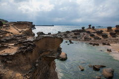 Wanli District, New Taipei City, Taiwan Yehliu Geopark strange rocky landscape Royalty Free Stock Image