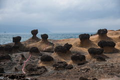 Wanli District, New Taipei City, Taiwan Yehliu Geopark strange rocky landscape Stock Image