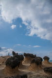 Wanli District, New Taipei City, Taiwan Yehliu Geopark strange rocky landscape Royalty Free Stock Photos