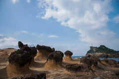 Wanli District, New Taipei City, Taiwan Yehliu Geopark strange rocky landscape Stock Photography