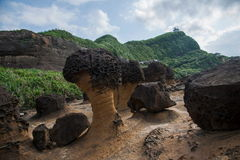 Wanli District, New Taipei City, Taiwan Yehliu Geopark strange rocky landscape Stock Photo