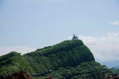 Wanli okręg, Nowy Taipei miasto, Tajwański Geopark Yehliu 'radar Obrazy Stock