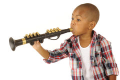 Wanna' Be Clarinet Player Royalty Free Stock Image