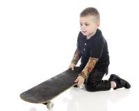 Wanna' Be Skateboarder Stock Photo