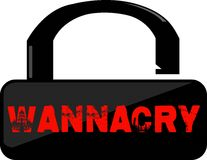 Wanna Cry Word conceptual Illustration. WannaCry Ransomware text isolated flat . Transparent Stock Images
