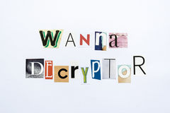 Wanna Decryptor - note Royalty Free Stock Photography