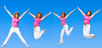 We wanna jump higher Stock Photo