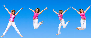 We wanna jump higher Stock Images