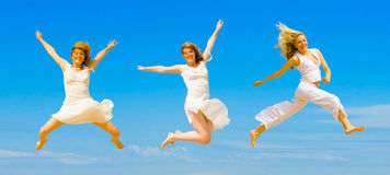 We wanna jump higher Royalty Free Stock Photos