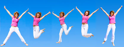 We wanna jump higher Stock Image