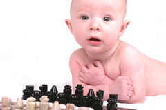 Wanna Play Chess. Future Chess Genius Stock Photography