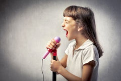 Wannabe singer Royalty Free Stock Photos