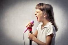 Wannabe singer Royalty Free Stock Photos