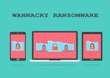 Wannacry Ransomware Royalty Free Stock Image