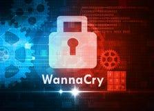 Wannacry ransomware Stock Images