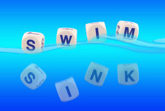 Wanne oder Swim Lizenzfreie Stockfotos