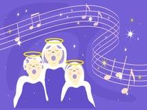 Wanneer de Engelen zingen vector illustratie
