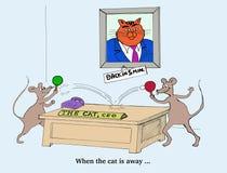Wanneer de Kat weg is zullen de Muizen spelen royalty-vrije illustratie