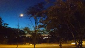 Wanneer de nacht komt stock fotografie