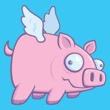 Wanneer de Varkens vliegen Royalty-vrije Stock Foto