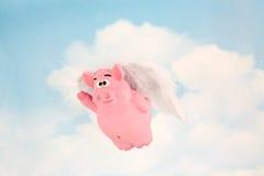 Wanneer de Varkens vliegen Royalty-vrije Stock Fotografie