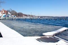 Wannsee湖在冬天 库存图片