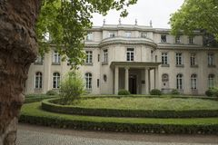Wannsee,柏林,德国;2018年8月23日;Wannsee别墅 免版税库存图片