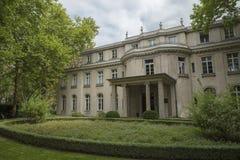 Wannsee,柏林,德国;2018年8月23日;Wannsee别墅 免版税库存照片