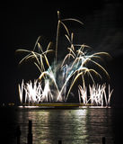 Wannsee in Flammen. Beautiful fireworks display at Wannsee in Flammen in Berlin stock photos