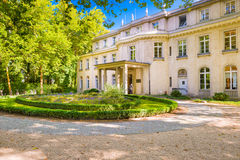Wannsee House in Germany. BERLIN, GERMANY - SEPTEMBER 17, 2014: The Wannsee House. The villa was used by senior members of the Nazi party as a conference center royalty free stock photo