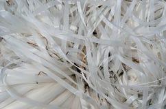 Wanordelijk plastic lint 3 stock afbeeldingen