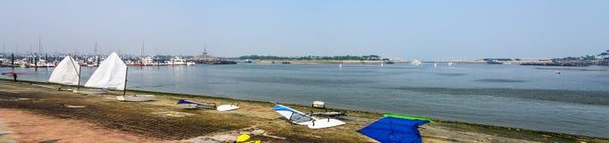 The Wanpingkou lagoon scenic spot Stock Photography