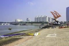 The Wanpingkou lagoon scenic spot Stock Image