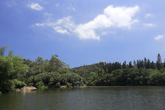 wanshi植物园湖  免版税库存图片