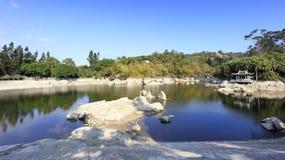 Wanshi jezioro przy porą suchą, adobe rgb Zdjęcie Royalty Free
