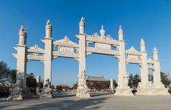 Wanshou temple in changchun, stone arch Royalty Free Stock Photo
