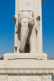 Wanshou temple stone elephant. Northeast China stone elephant outside of Beijing art museum, the modelling of primitive simplicity is grave, of religious Stock Photography