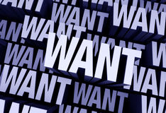 Want Is All Around Royalty Free Stock Photos