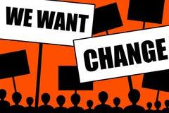 We want change Stock Photo