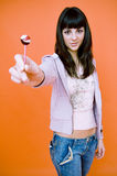 Want my lollipop? Stock Images