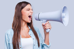 Want to be heard. Stock Photos