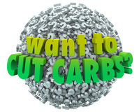 Want to Cut Carbs Question Mark Ball Sphere Diet Eat Healthy Los Stock Photos