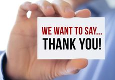 Thank you. We want to say - thank you royalty free stock photo