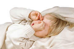 Want to sleep Stock Photography