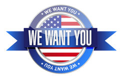 We want you usa seal illustration design Stock Photos
